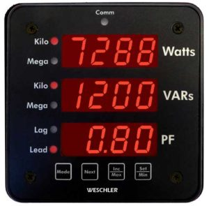 Triple Function Digital Switchboard Meter