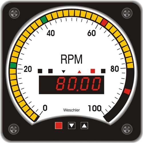 Tri-Color Circular Bargraph Meter