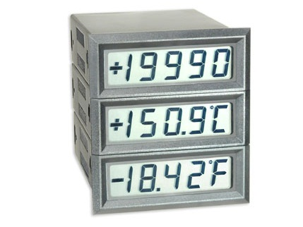 Slim-Bezel Case LED and LCD Miniature Meters - Texmate