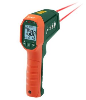 Dual Laser IR Laser Thermometer with Alarms - IR320