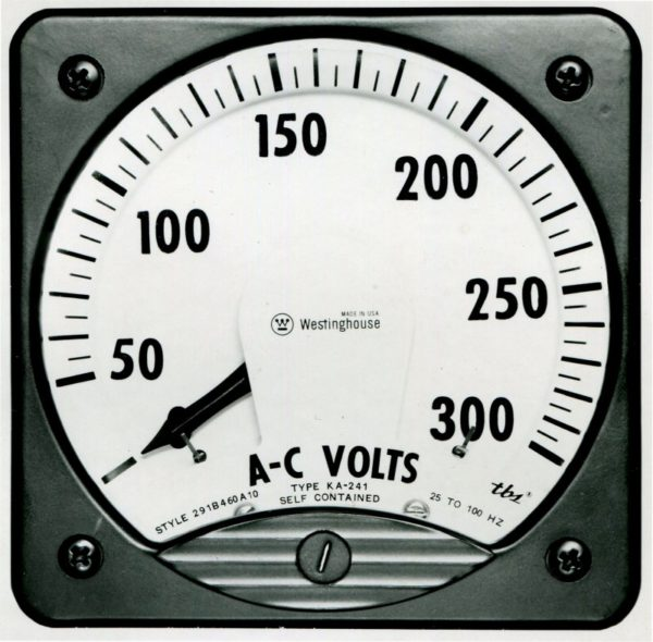 AC Voltage Analog Switchboard Meter