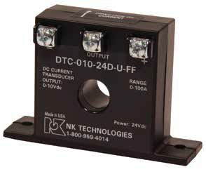 DT Series 3-Wire DC Current Transducer