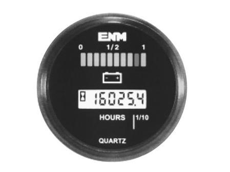 Hour Meter & Battery Discharge Gauge