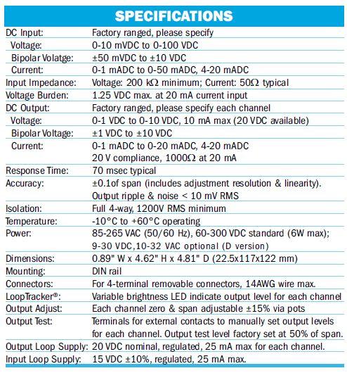 DC to DC Splitter Specs