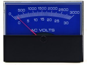 Stylist AC Voltage Analog Meter