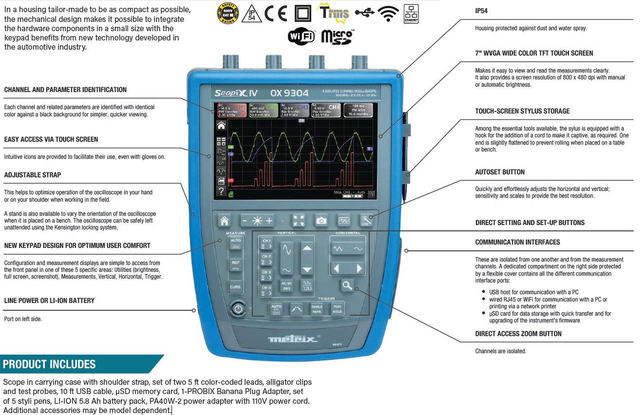 AEMC Portable Hand-Held Oscilloscope