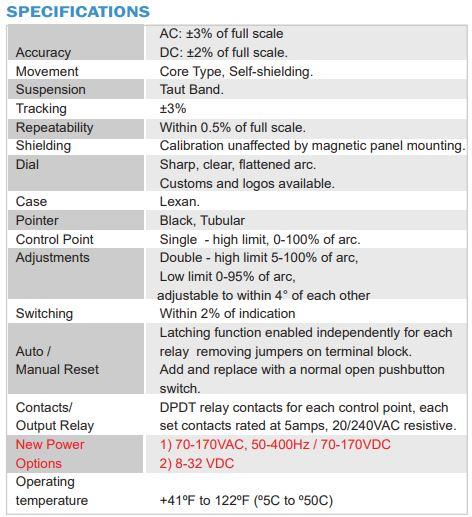 AC Analog Meter Relay